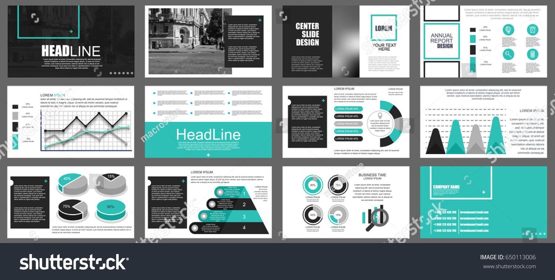 Blue Black Elements Infographics On White Stock Vector 650113006 ...