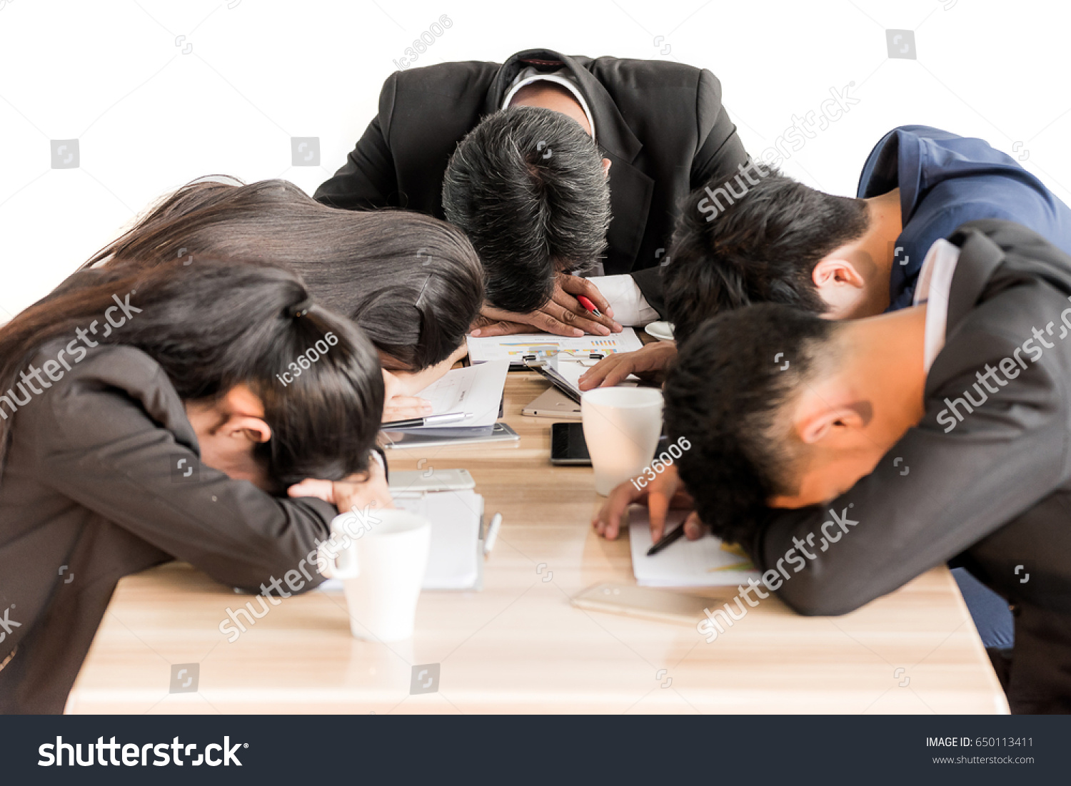 group business people sleeping meeting stock photo edit now