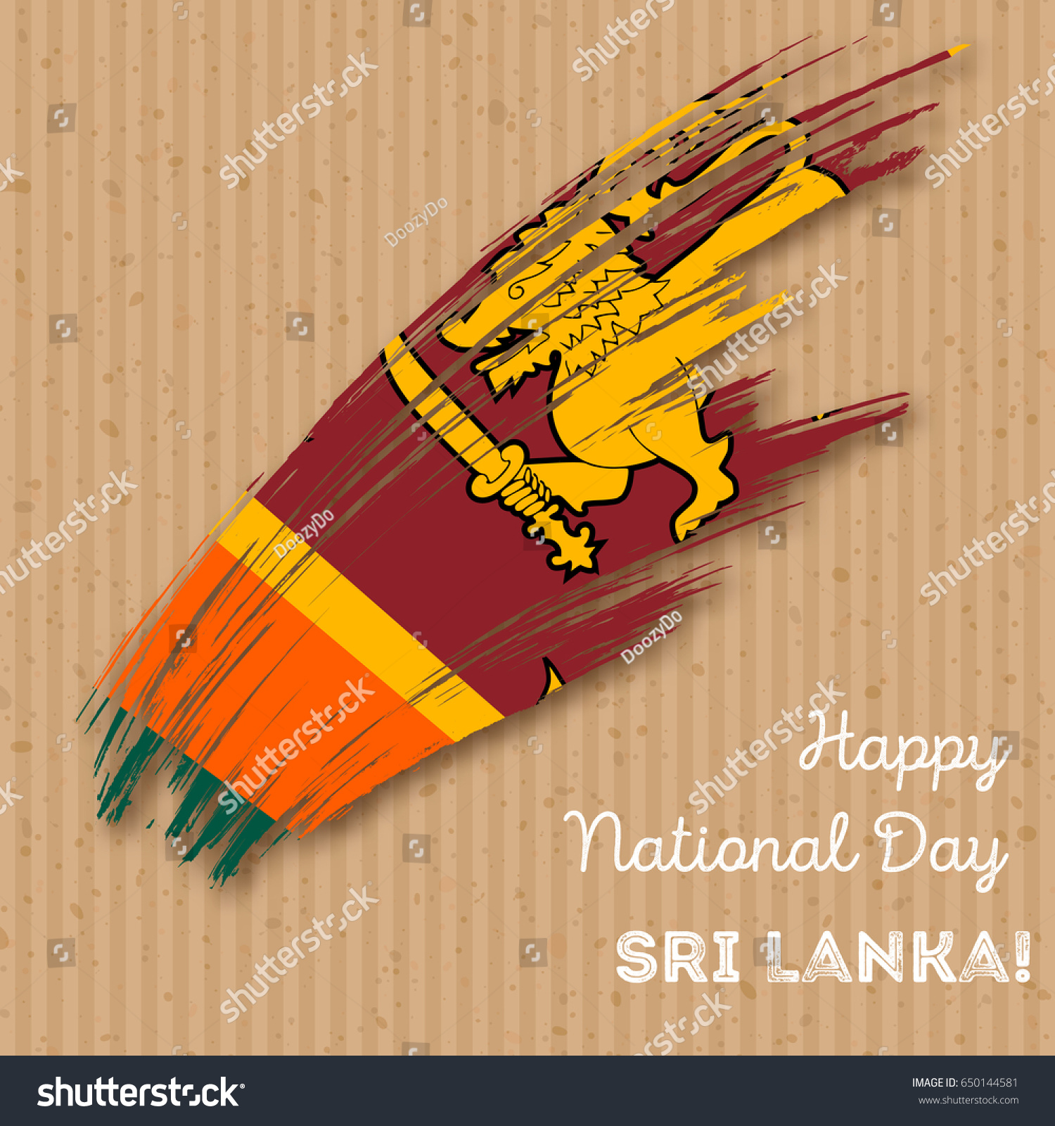 Sri Lanka Independence Day Patriotic Design Stock Vector Royalty