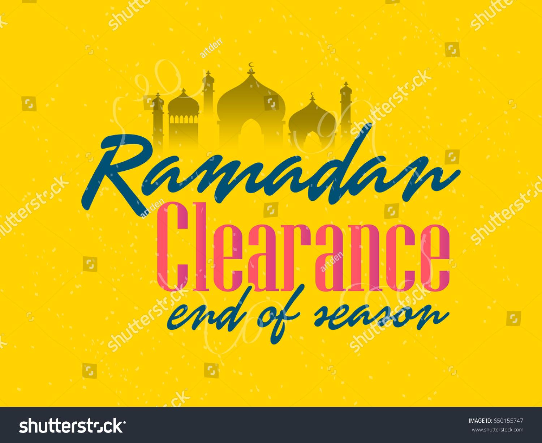 Creative Abstract Sales Banner Poster Ramadan Stock Vector Hd