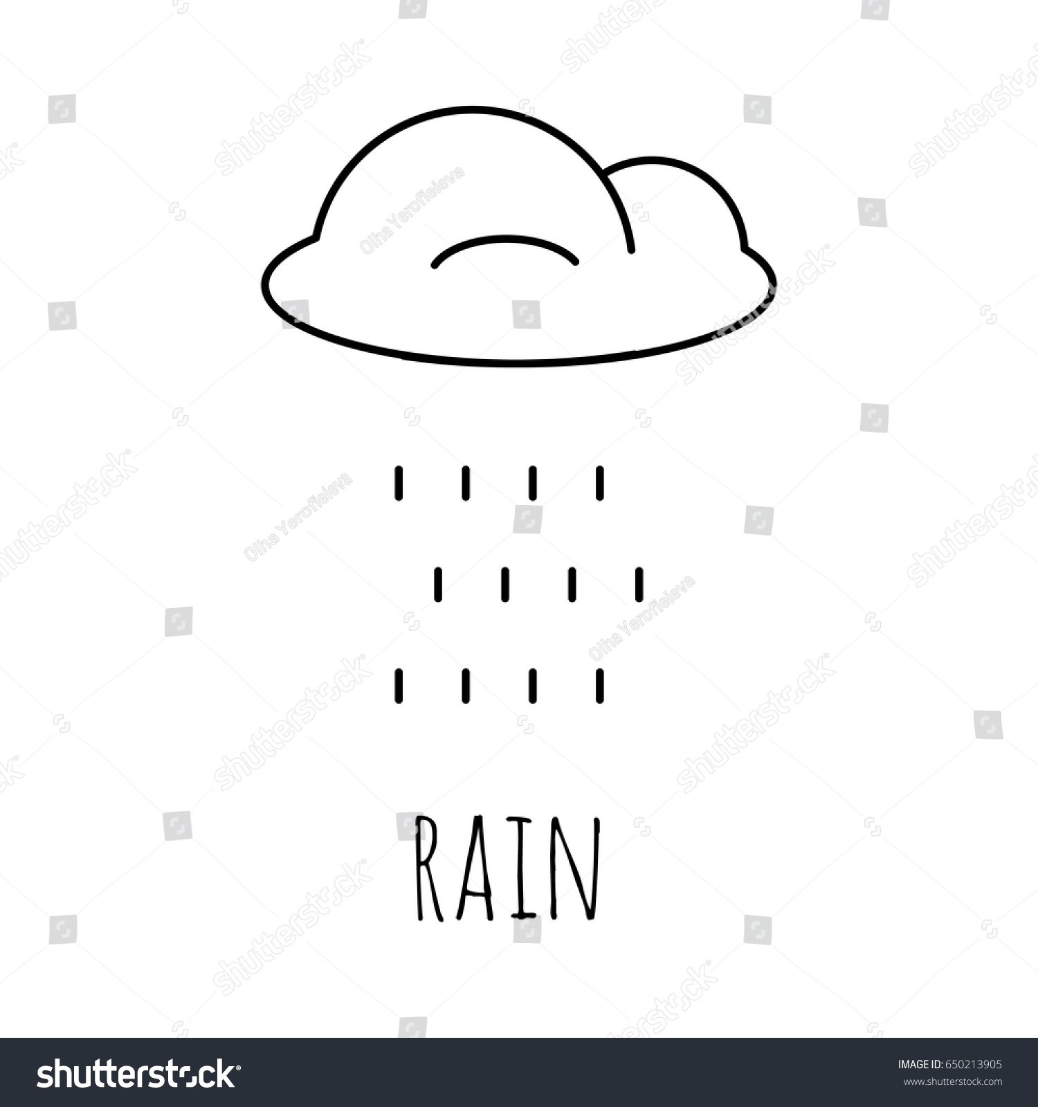 Coloring Pages Rain Cloud Painting Page Stock Vector HD (Royalty ...