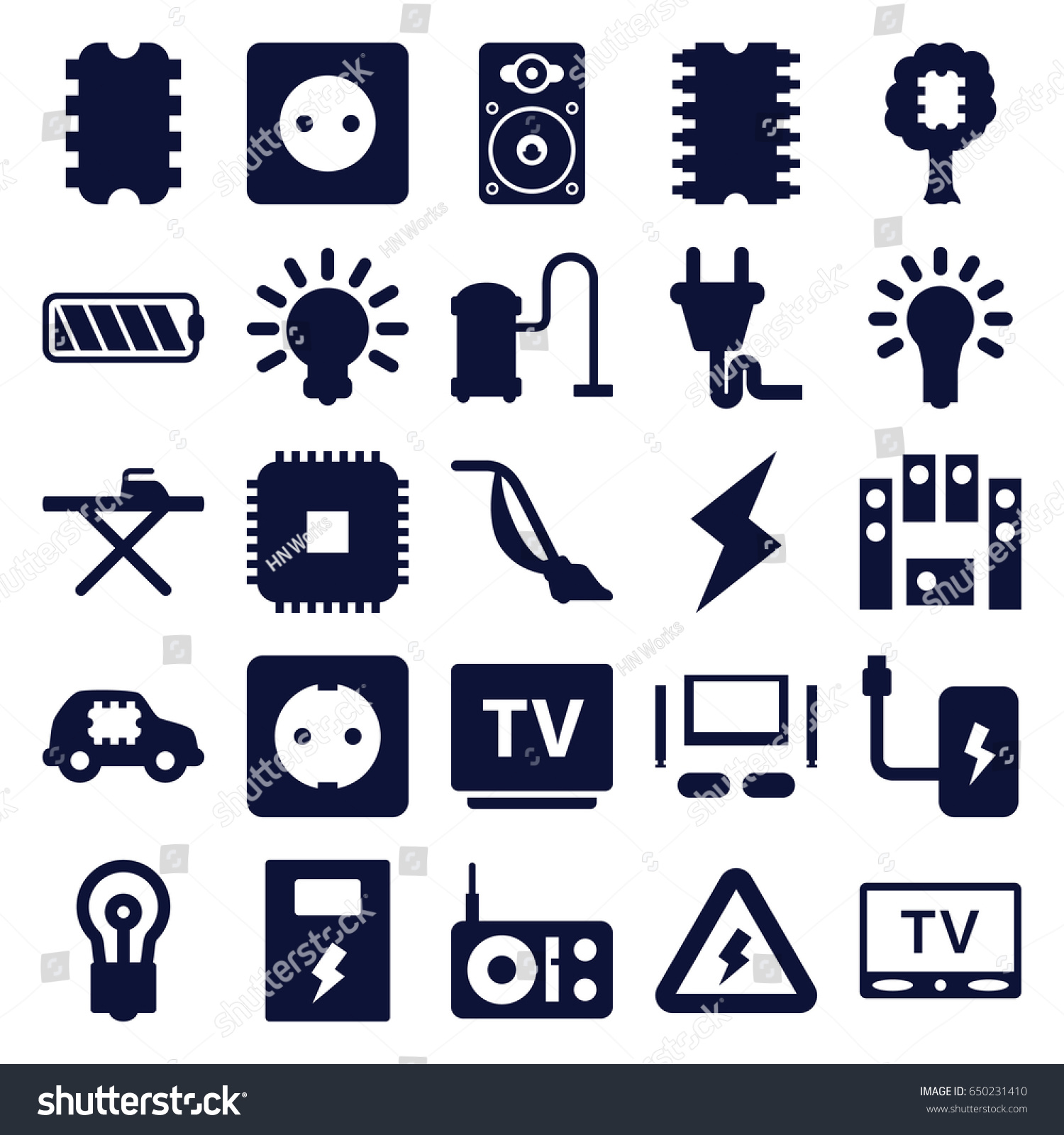 Electrical icons set  set of 25… Stock Photo 650231410