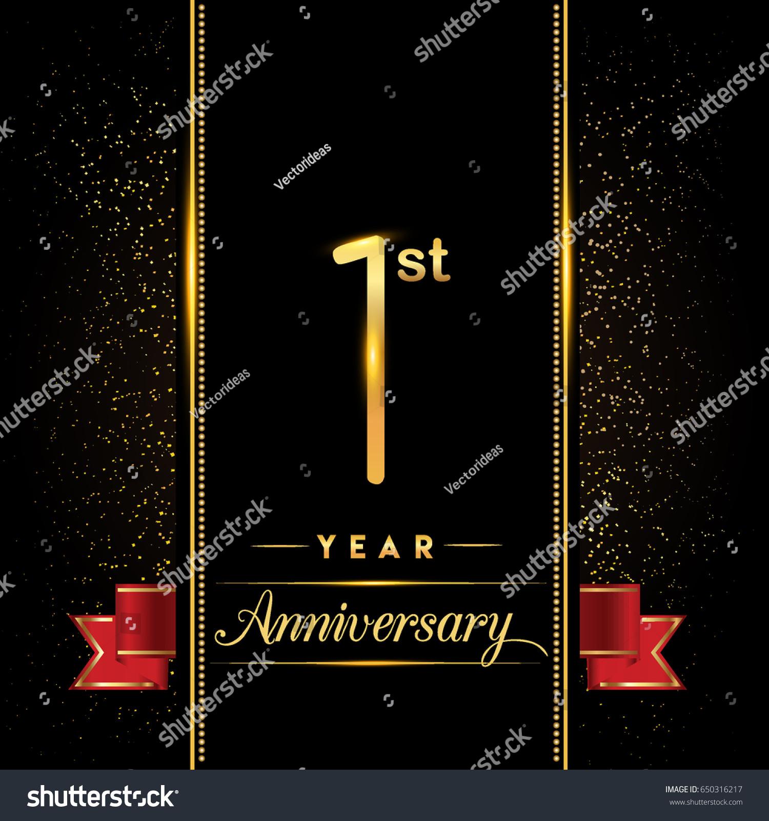 One year anniversary celebration logotype st stock vector