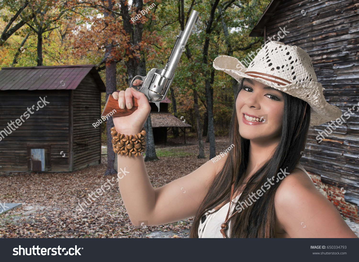9b2f3571552 Beautiful Young Country Girl Woman Wearing Stock Photo (Edit Now ...