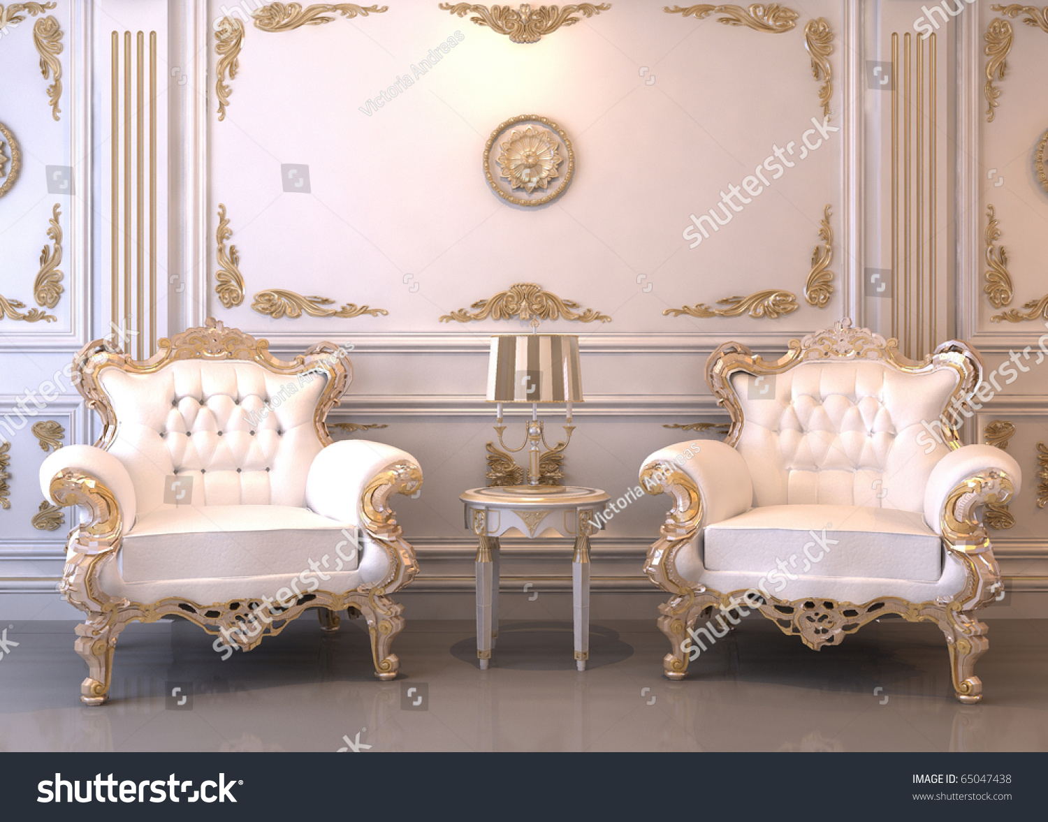 royal furniture in luxury interior stock photo 65047438 shutterstock. Black Bedroom Furniture Sets. Home Design Ideas