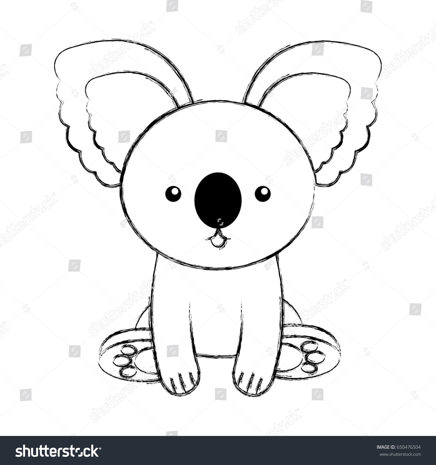 Uncategorized Draw Koala cute sketch draw koala cartoon stock vector 650476504 shutterstock cartoon