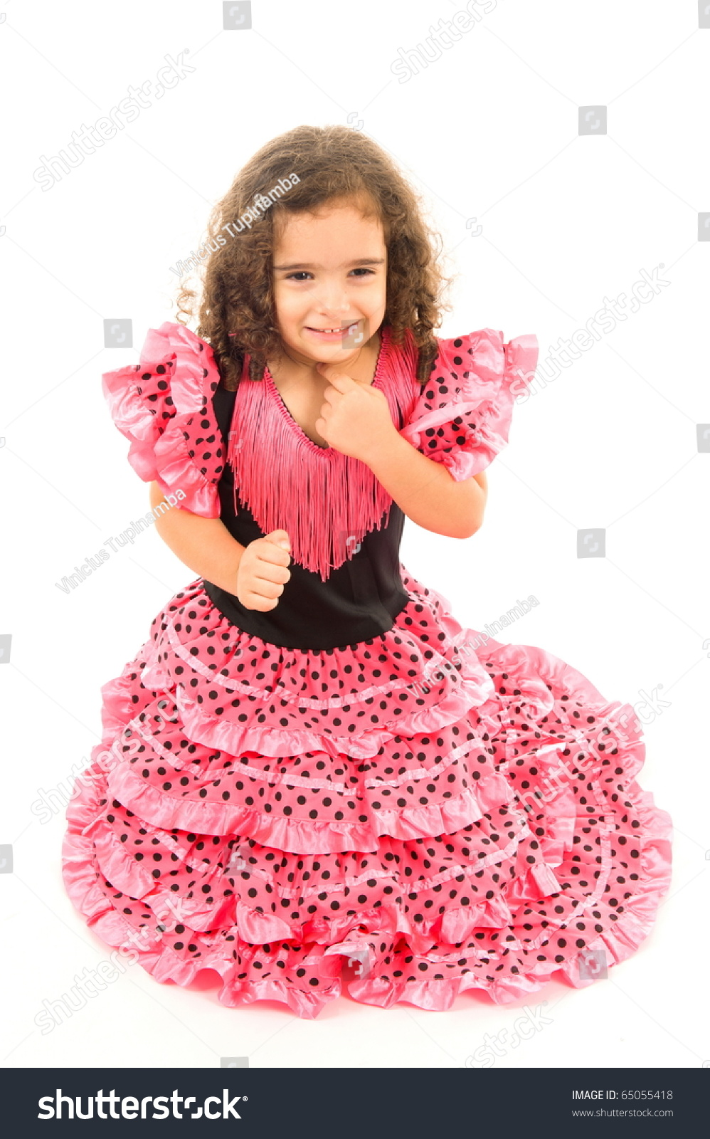 Cute Girl Typical Spanish Clothes Stock Photo 65055418