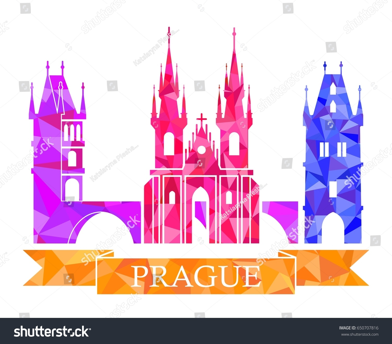 Powder tower charles bridge tyn church stock vector 650707816 powder tower charles bridge tyn church prague dancing house traditional symbols of buycottarizona Gallery