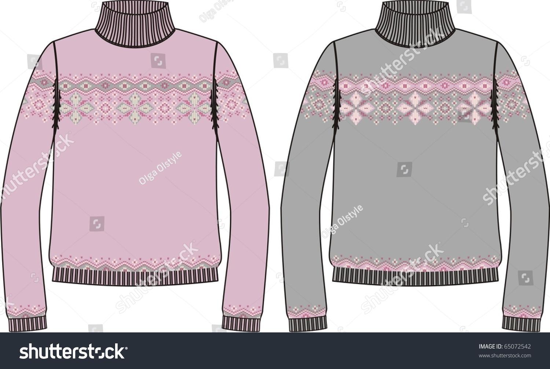 Sweater For Knitting ( Vector) - 65072542 : Shutterstock
