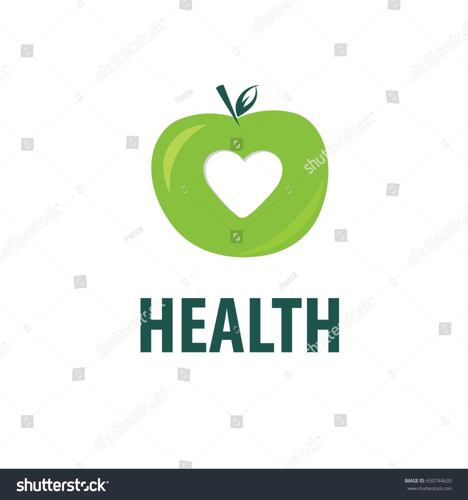 Vector Green Apple Logo Isolated Creative Stock Vector 650744635 ...