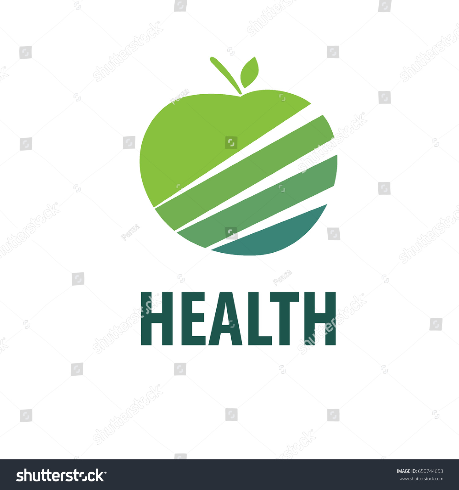 Vector Green Apple Logo Isolated Creative Stock Vector 650744653 ...