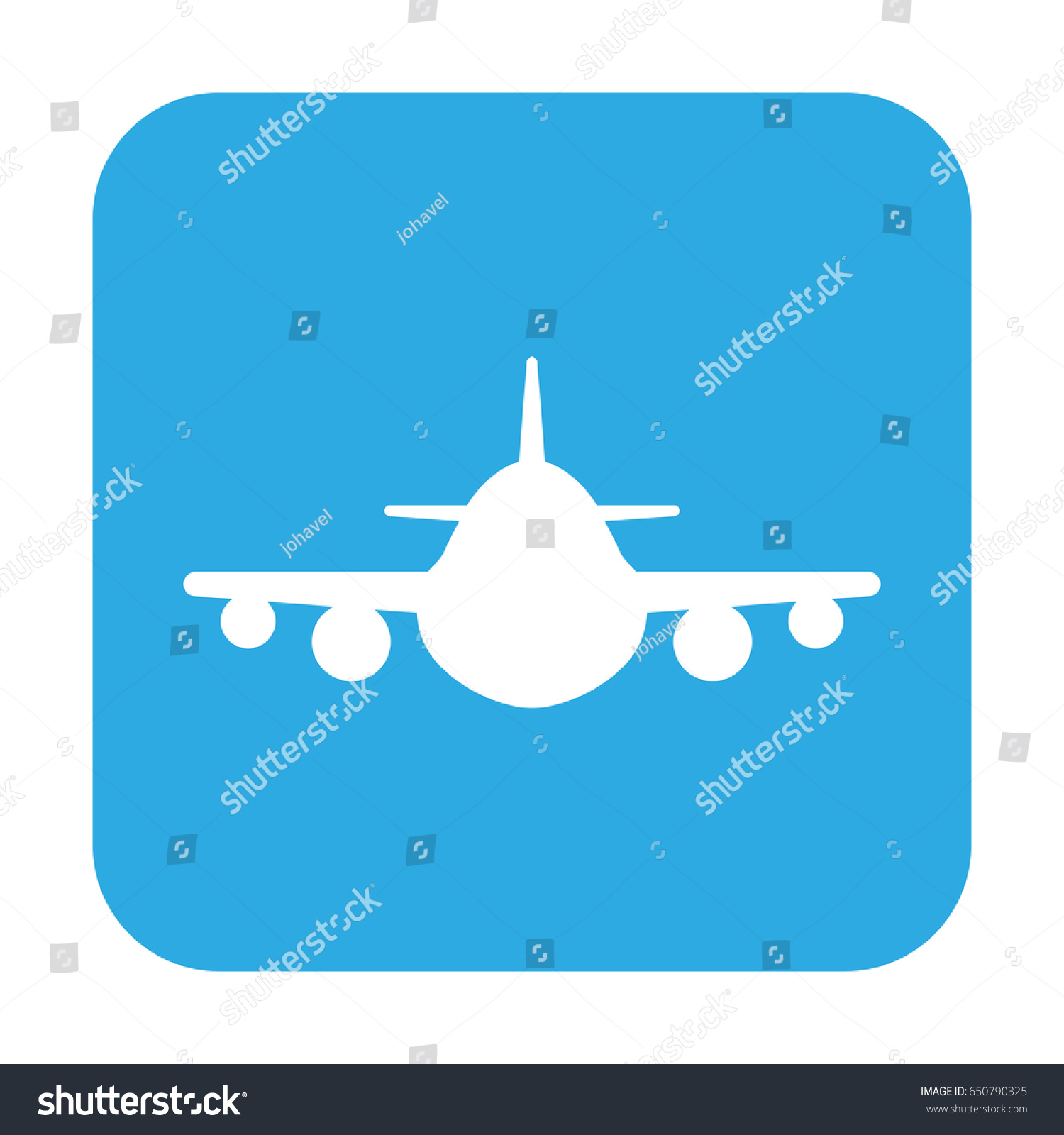 button icon airplane stock vector 650790325 shutterstock