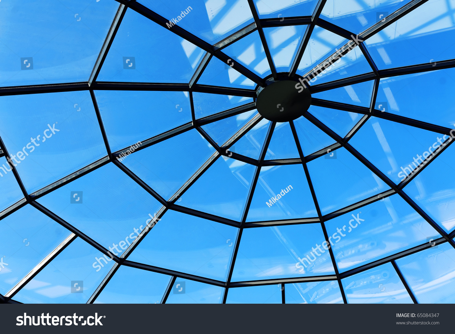 Sunroof of a shopping mall #65084347