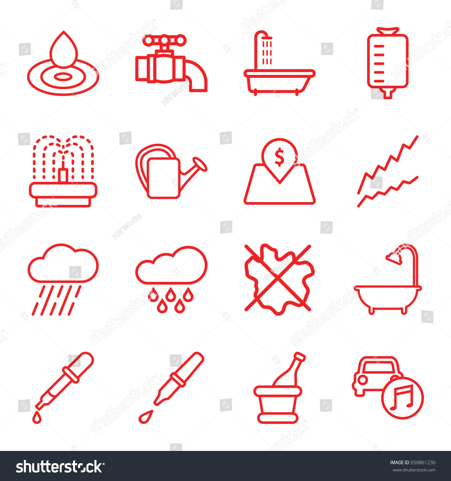 Drop icons set set 16 drop stock vector 650861230 shutterstock drop icons set set of 16 drop outline icons such as shower pipette biocorpaavc