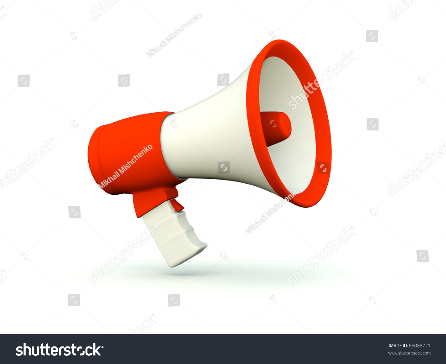 Megaphone Icon. Red Series Stock Photo 65088721 : Shutterstock
