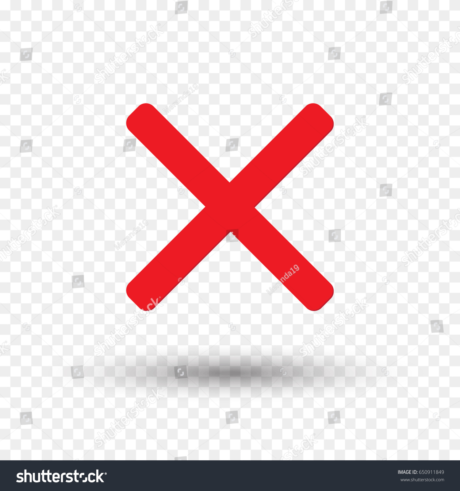 red cross icon isolated on transparent stock vector