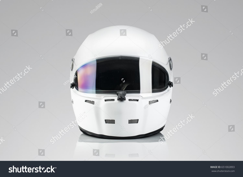 White Racing Helmet Template Stock Photo Edit Now 651002893