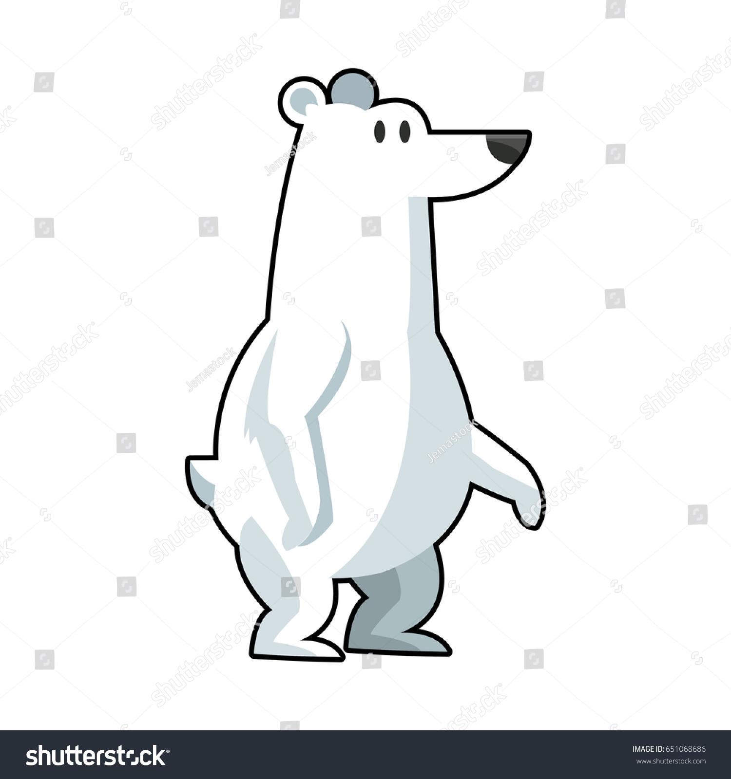 cartoon cute polar bear stock vector 651068686 shutterstock