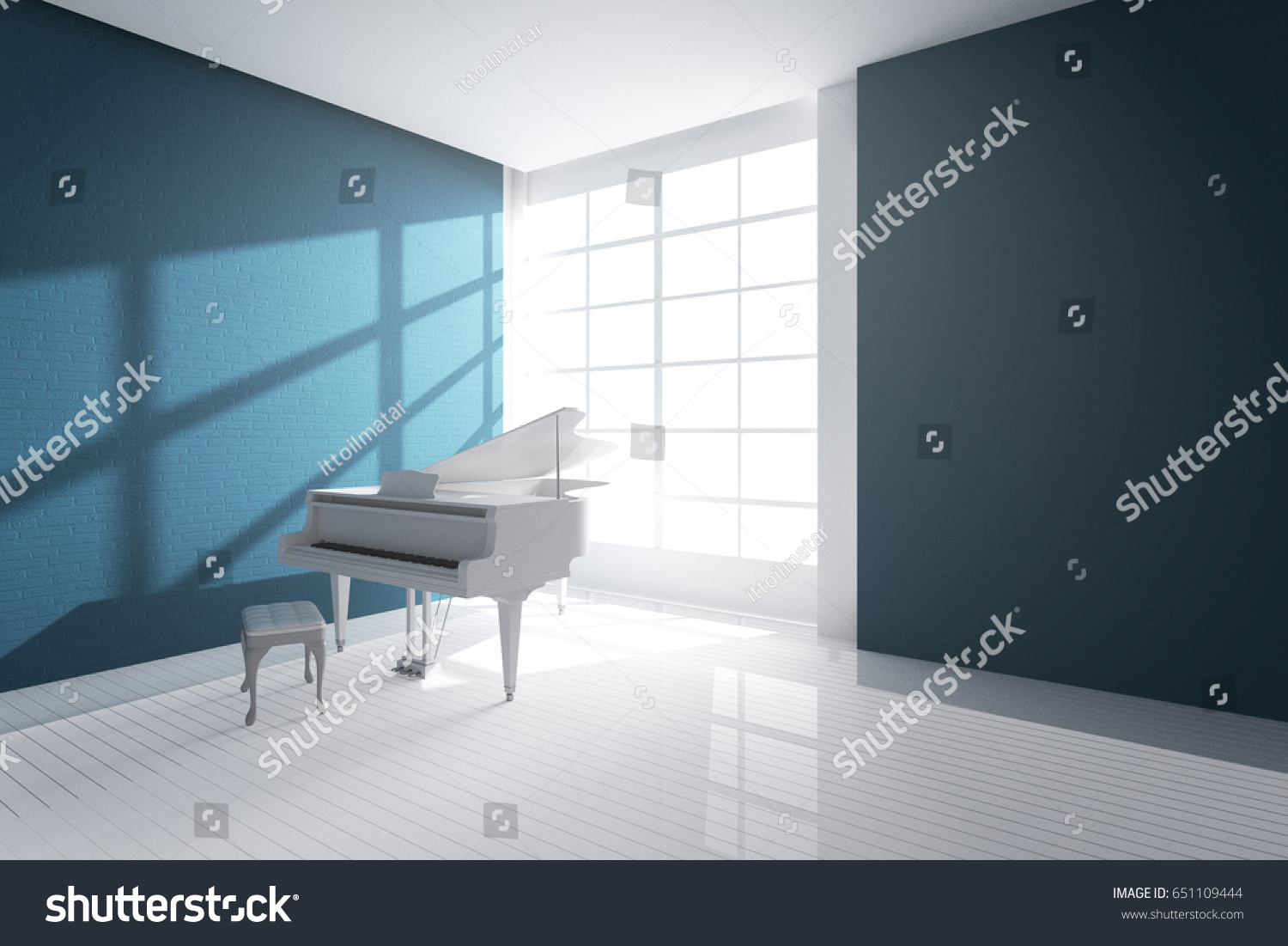 3 D Rendering Illustration White Room White Stock Illustration ...