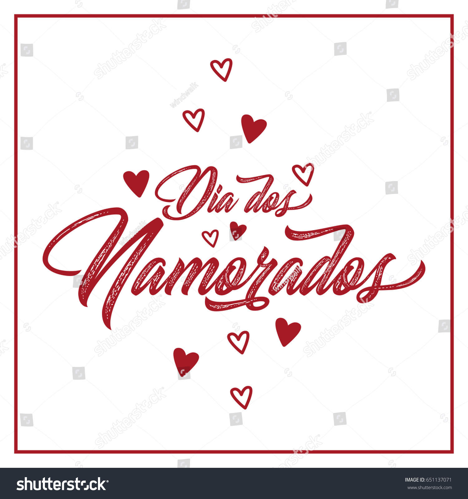 Happy Valentines Day Greeting Card, Lettering