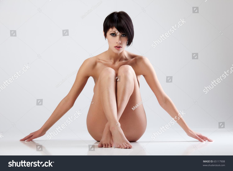 stock photo naked beautiful woman sitting