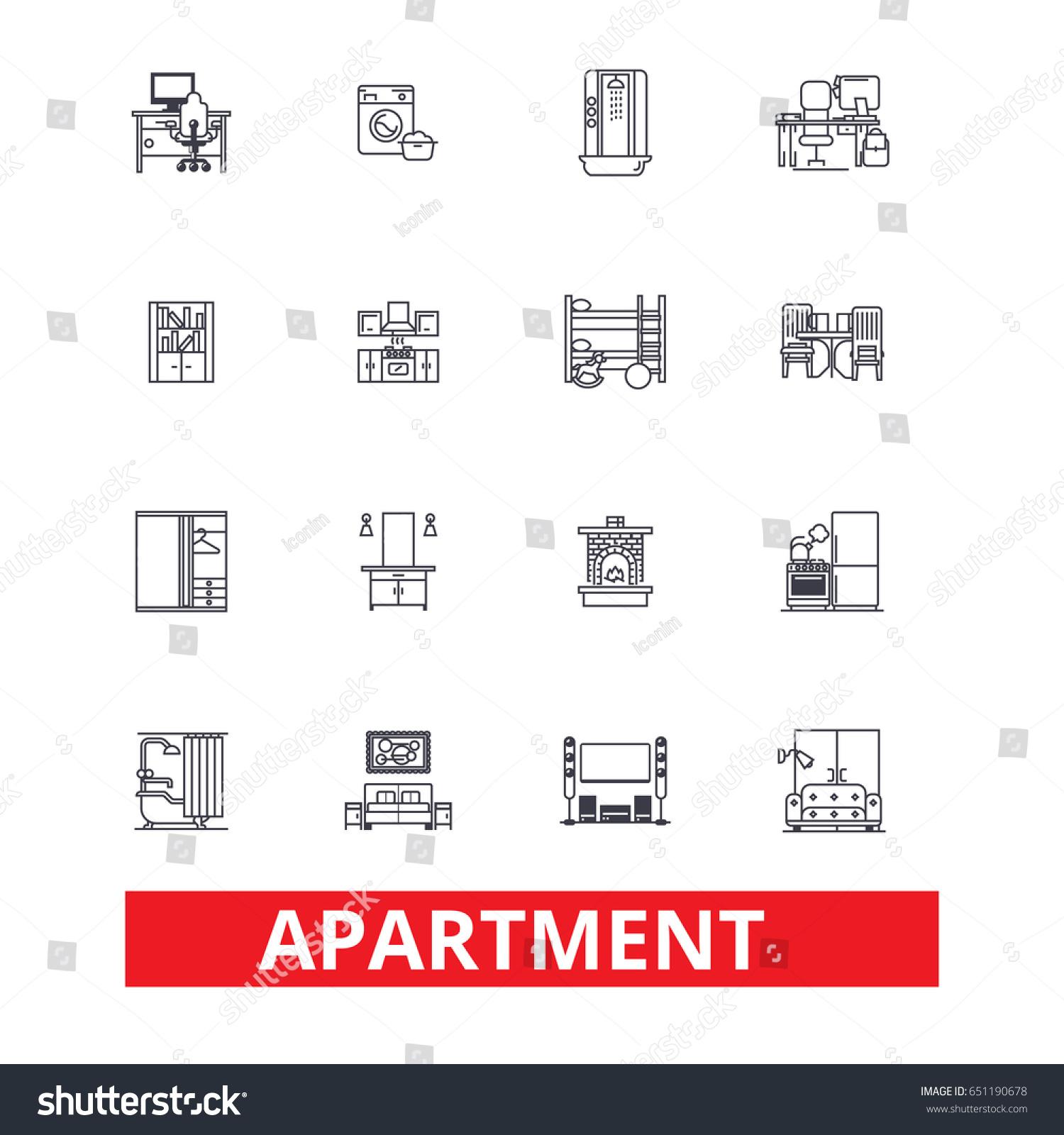 Apartment Building House Interior Flat Complex Stock Vector 651190678 Shutterstock