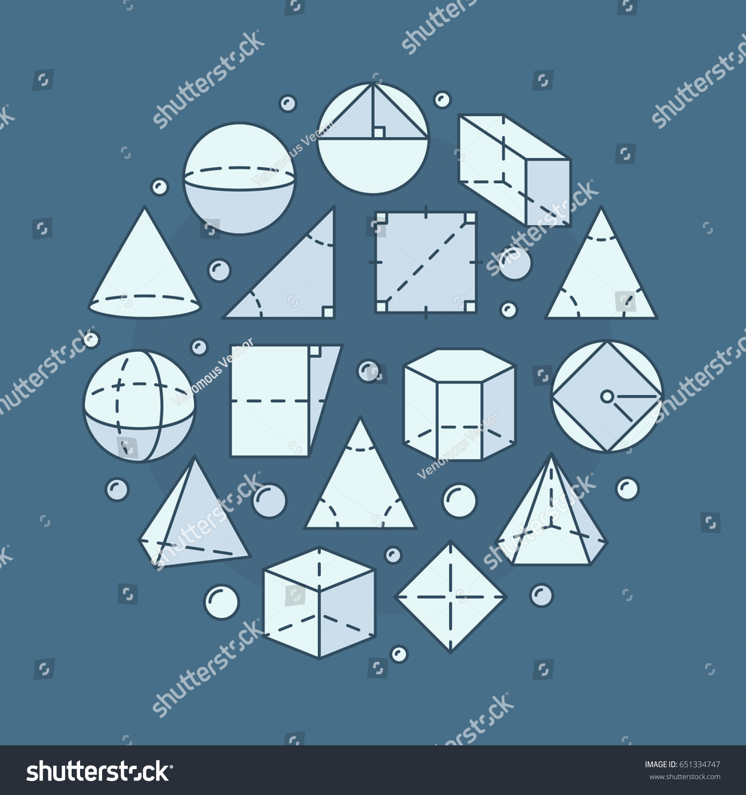 Geometry Mathematics Illustration Vector Concept Round Stock Vector