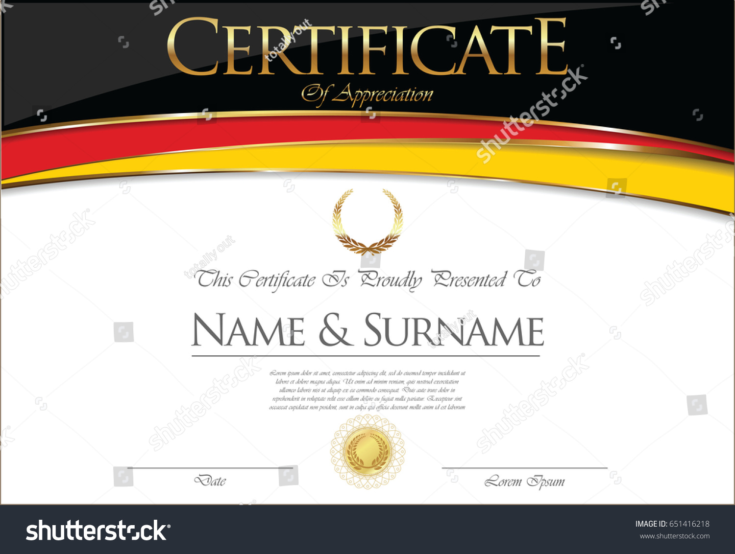 certificate diploma flag design stock vector  certificate or diploma flag design