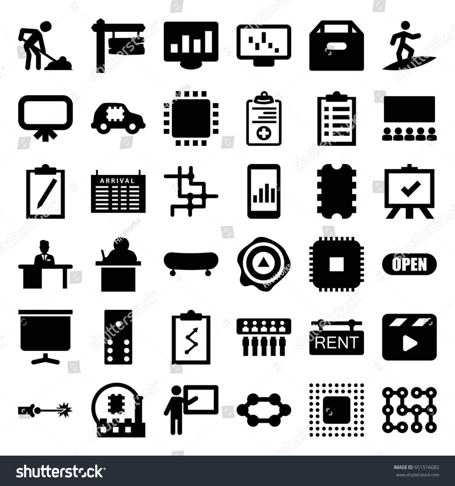 Board icons set set 36 board stock vector 651516682 shutterstock board icons set set of 36 board filled icons such as arrival table board buycottarizona