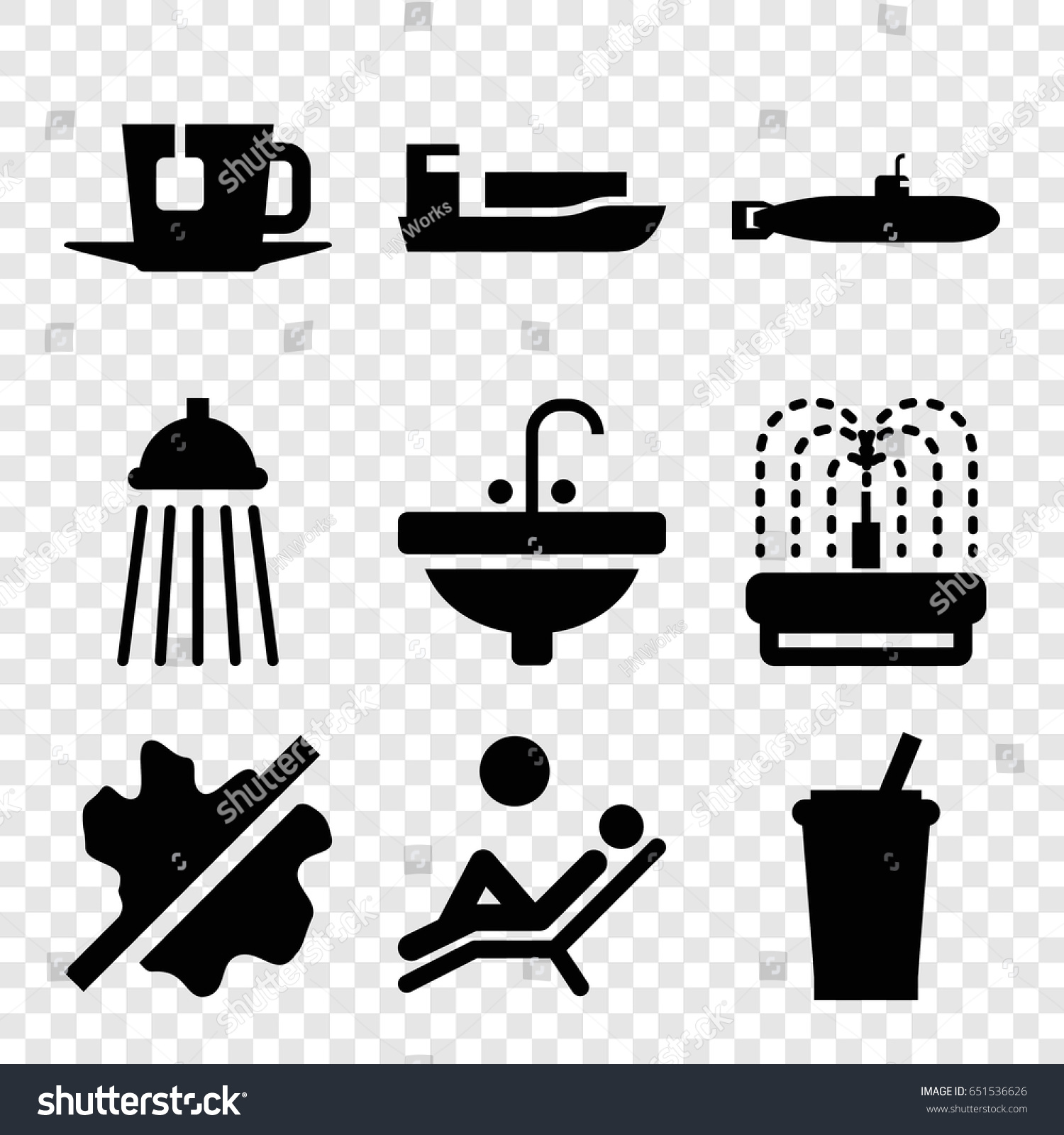 Water icons set set 9 water stock vector 651536626 shutterstock water icons set set of 9 water filled icons such as no wash sink biocorpaavc