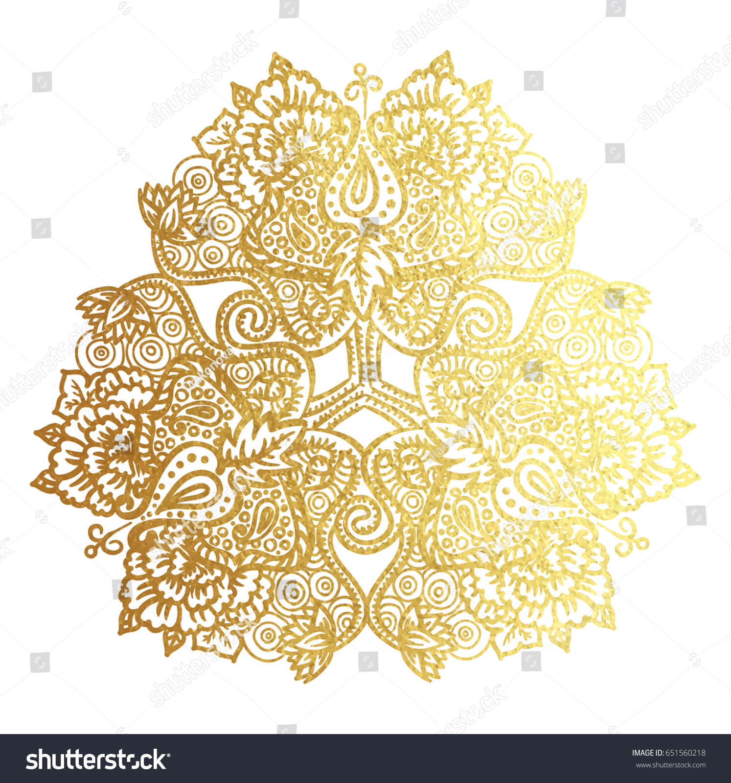 Vector Illustration Tribal Mandala Lotus Flowers Stock Vector