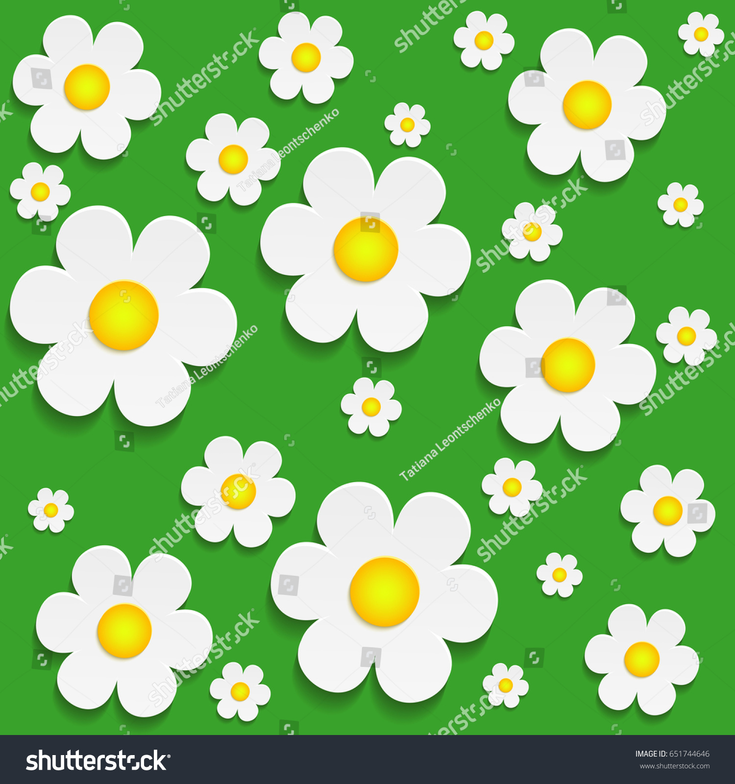 Paper Flower Design Card Cutout Vector Stock Vector Royalty Free
