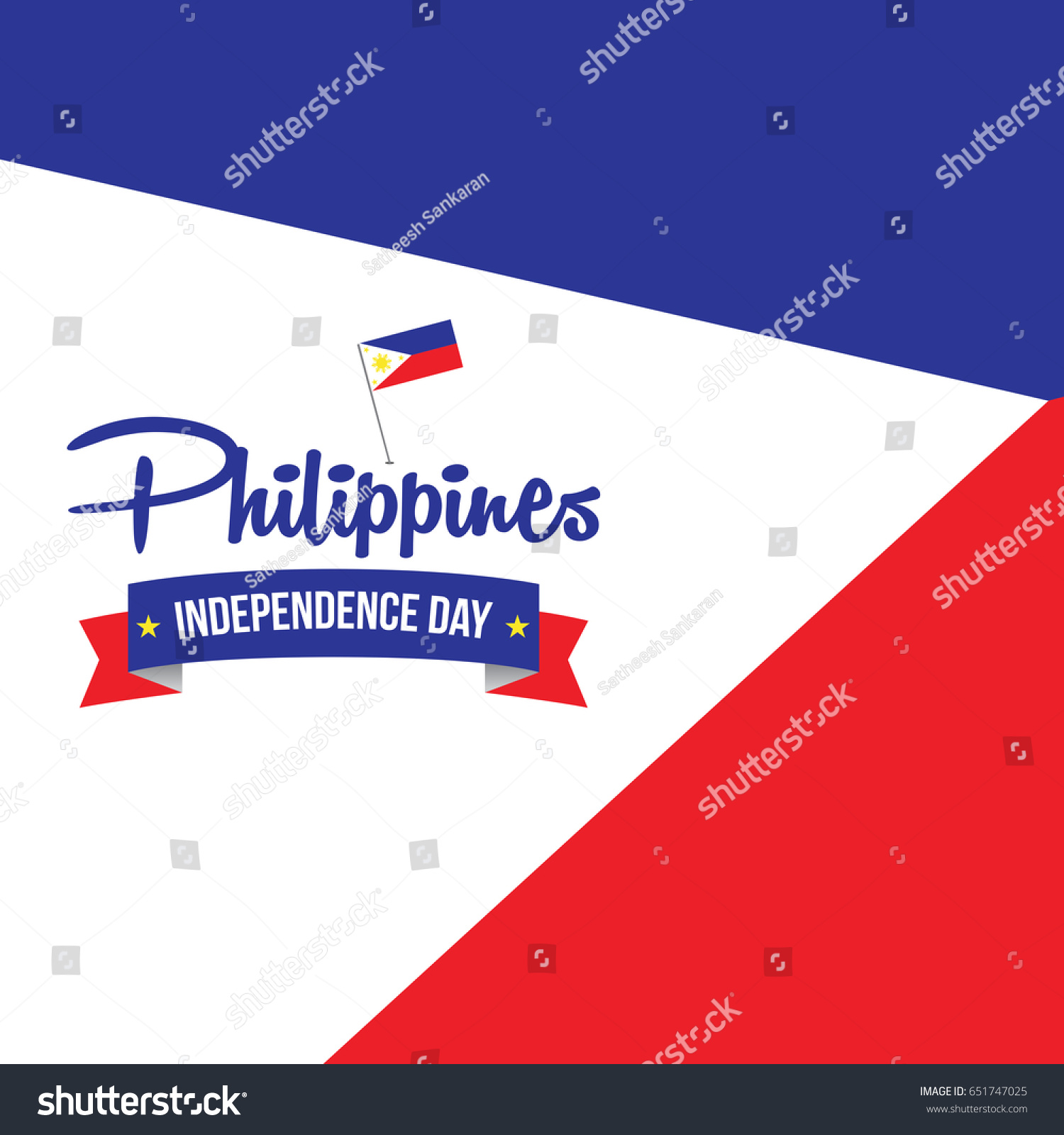 philippines independence day vector illustration philippines stock