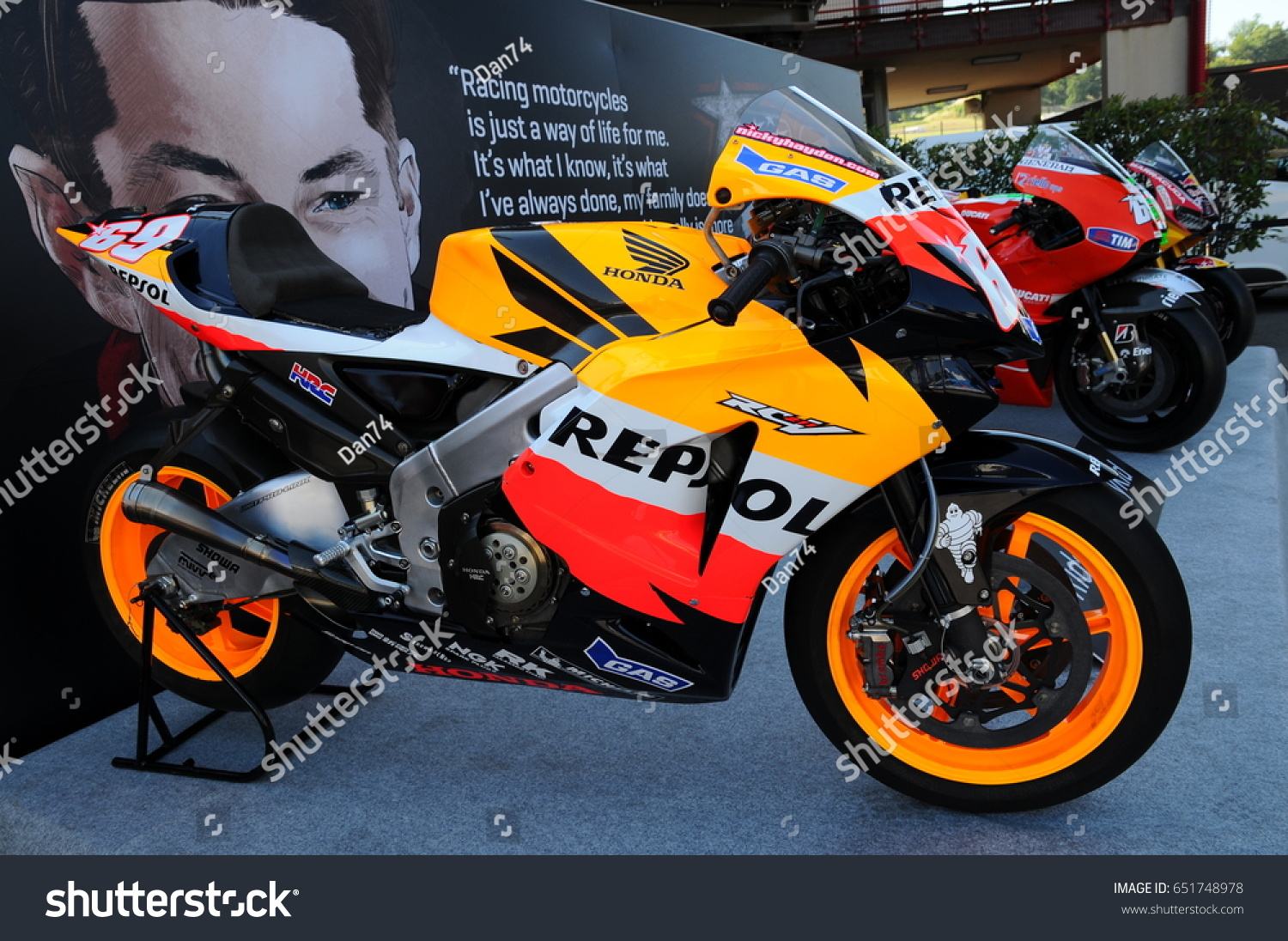 Bangkok April 2 The Honda Cbr Motorcycle On Display At 35th Paddock Stand New Cbr150r International Motor Show 2014 In Thailand Ez Canvas