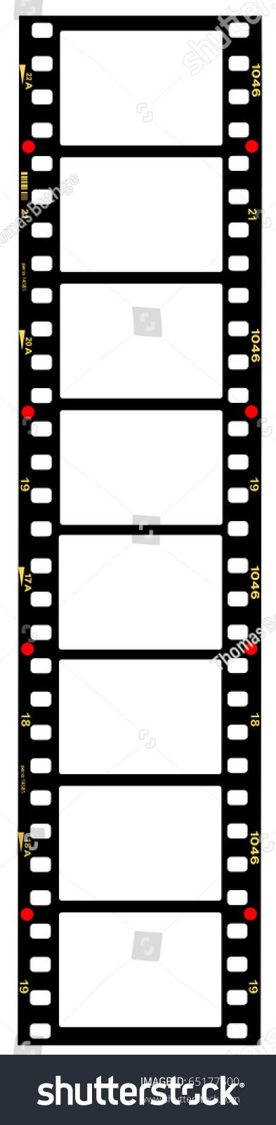 35 Mm Format Movie Filmstrip Picture Framesstandard Stock ...