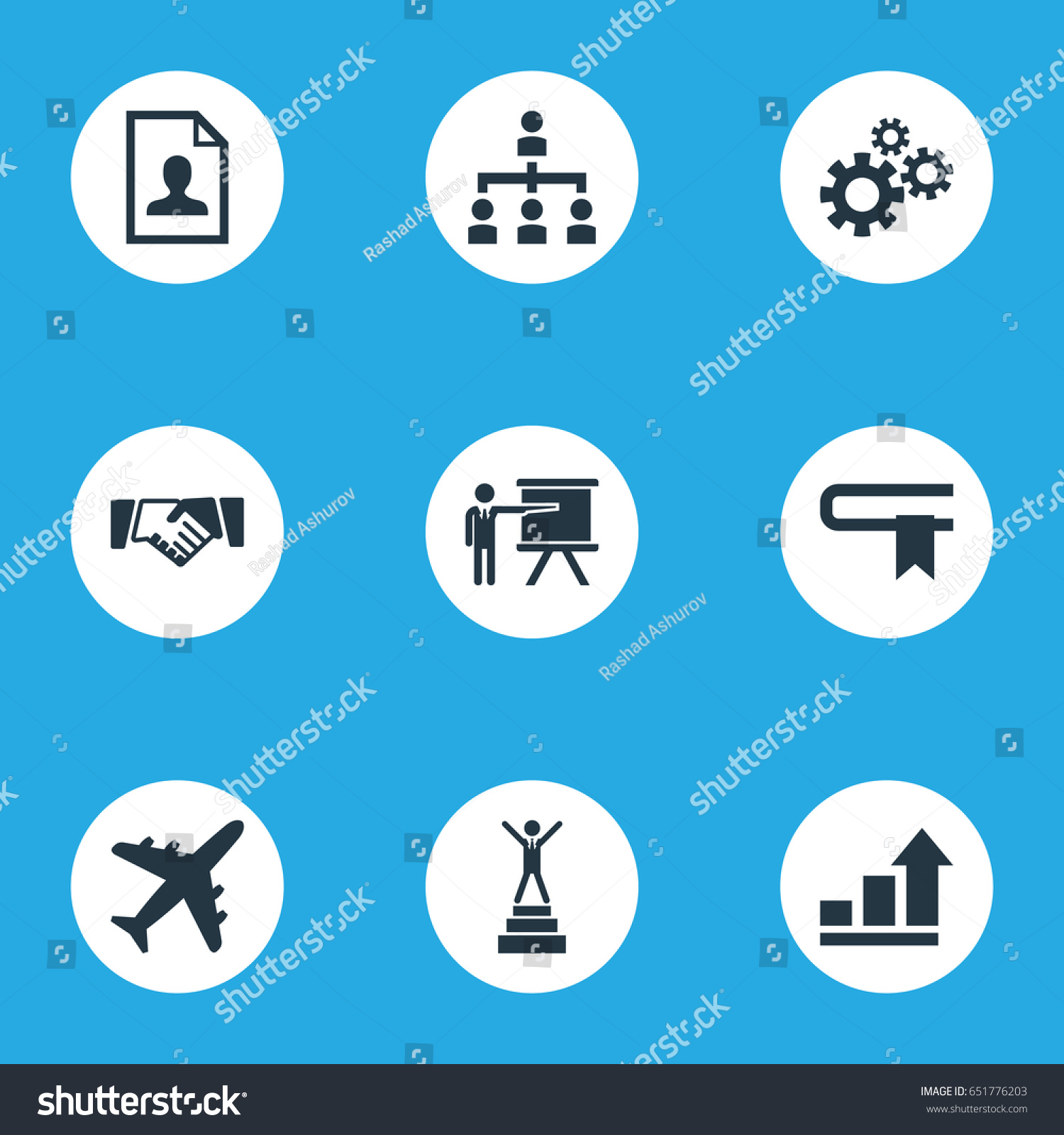 Vector Illustration Set Simple Solution Icons Stock Vector