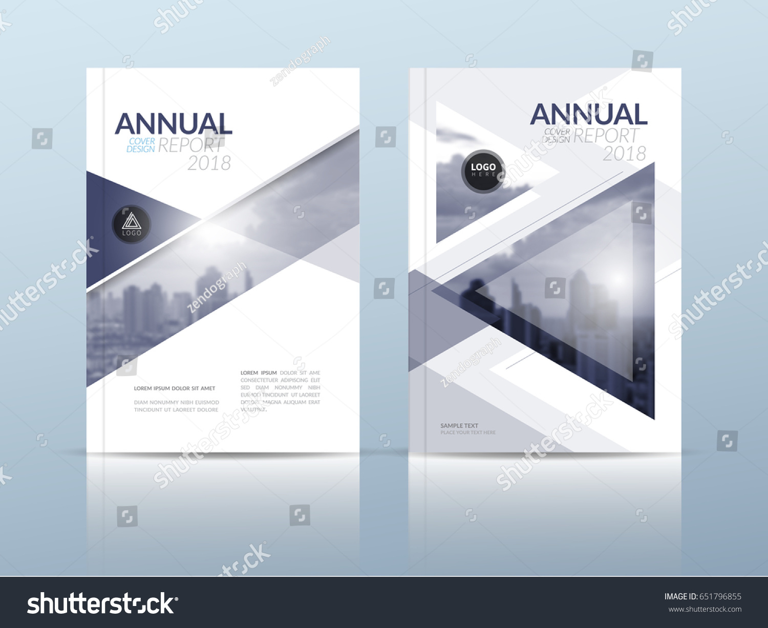 Annual Report Cover Flyer Presentation Brochure Stock Photo Photo - Presentation cover page template