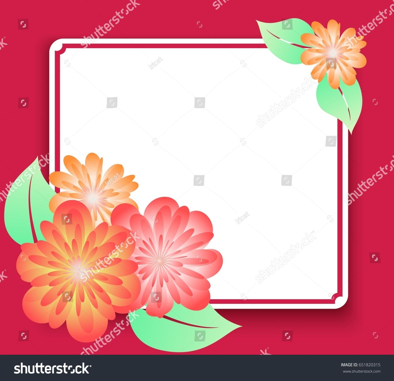 Beautiful frame with gradient filled. Color elegant flower frame for ...