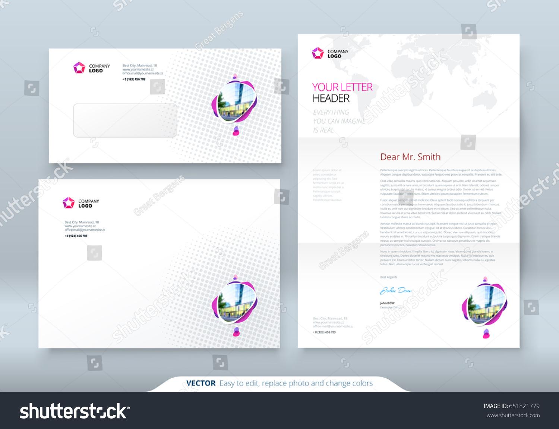 Envelope Dl C 5 Letterhead Corporate Business Stock Vector Royalty