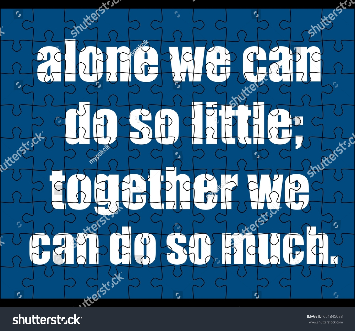 Teamwork Quotes Teamwork Quotes Jigsaw Puzzle Stock Illustration 651845083