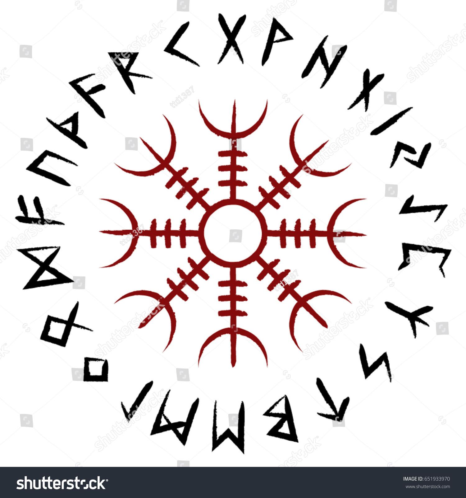 Rune of Shielding Stock-vector-aegishjalmur-symbol-651933970