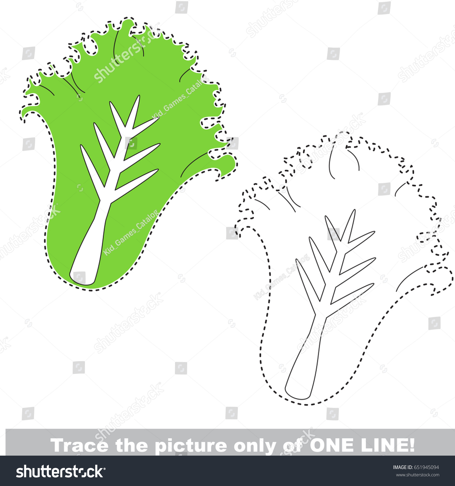 Lettuce Be Traced Only One Line Stock Vector 651945094 - Shutterstock