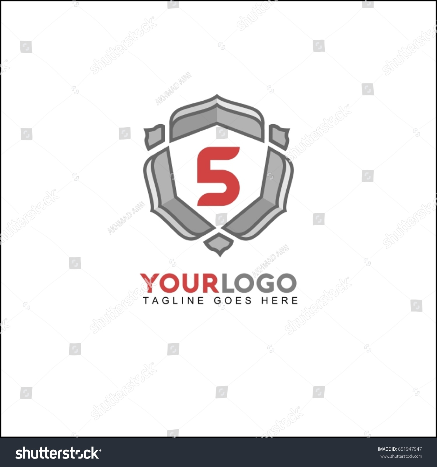 5 Letter Identity Design Luxury Logo Template In Vector For Restaurant Royalty Boutique