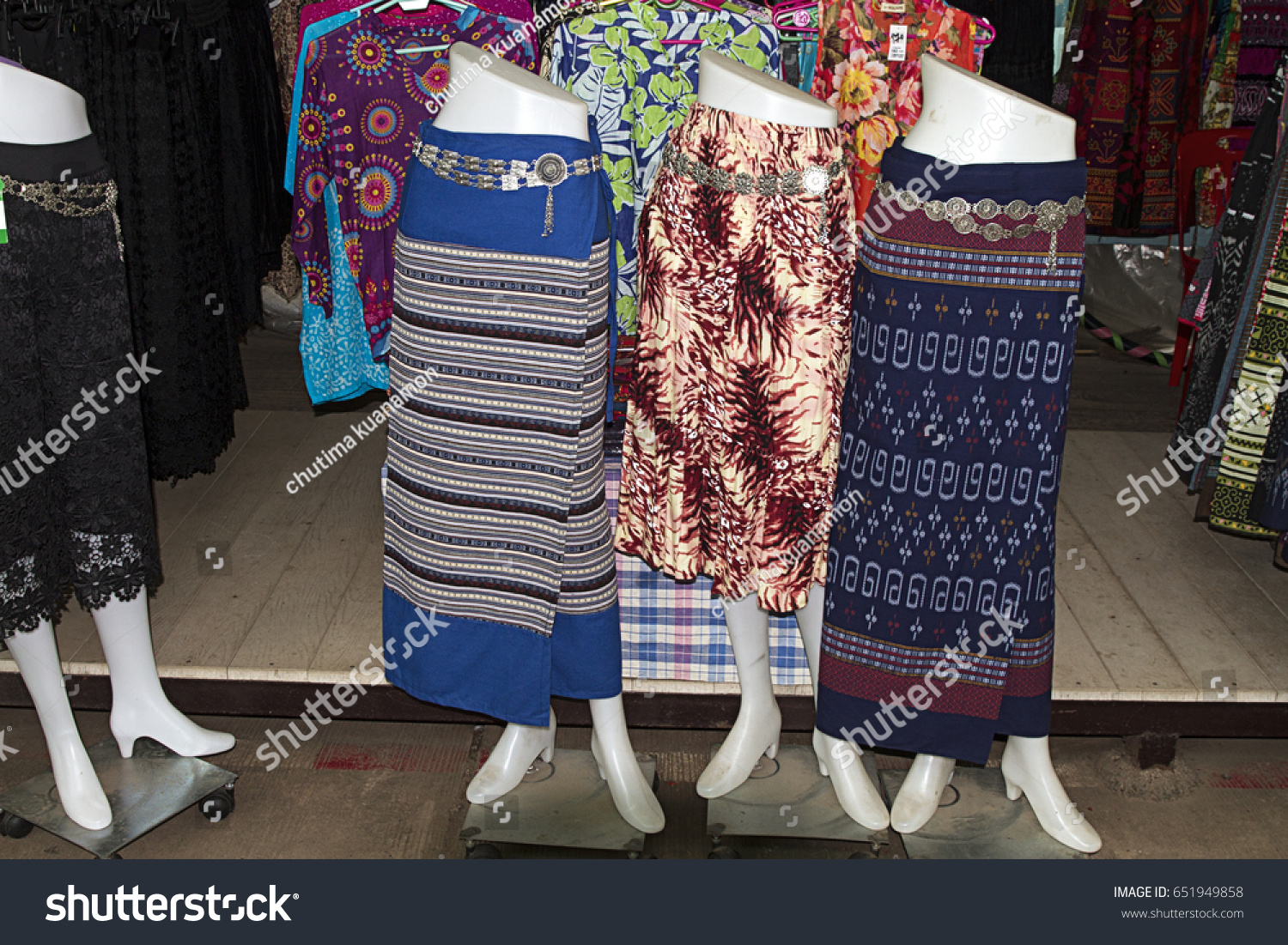 4066c547a9c Exotic Mix Color Traditional Clothes Thailand Stock Photo (Edit Now ...