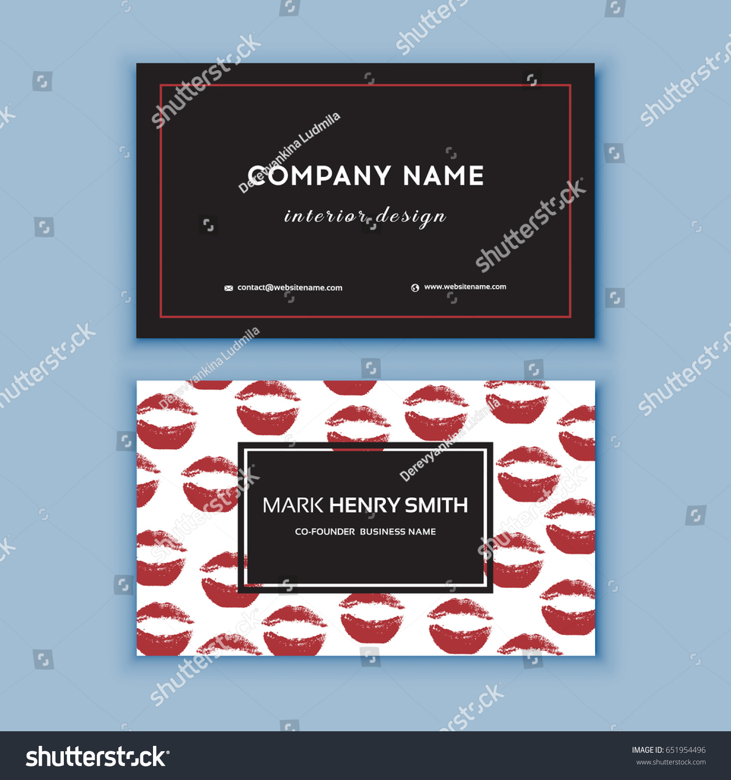 Makeup Artist Business Card Business Cards Stock Vector Royalty