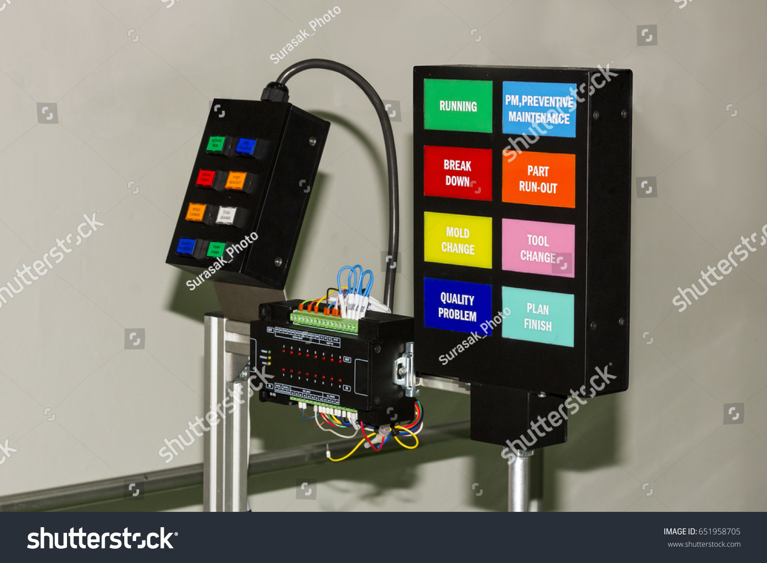 Control Panel Electrical Plc Controller Equipment Stock Photo ...
