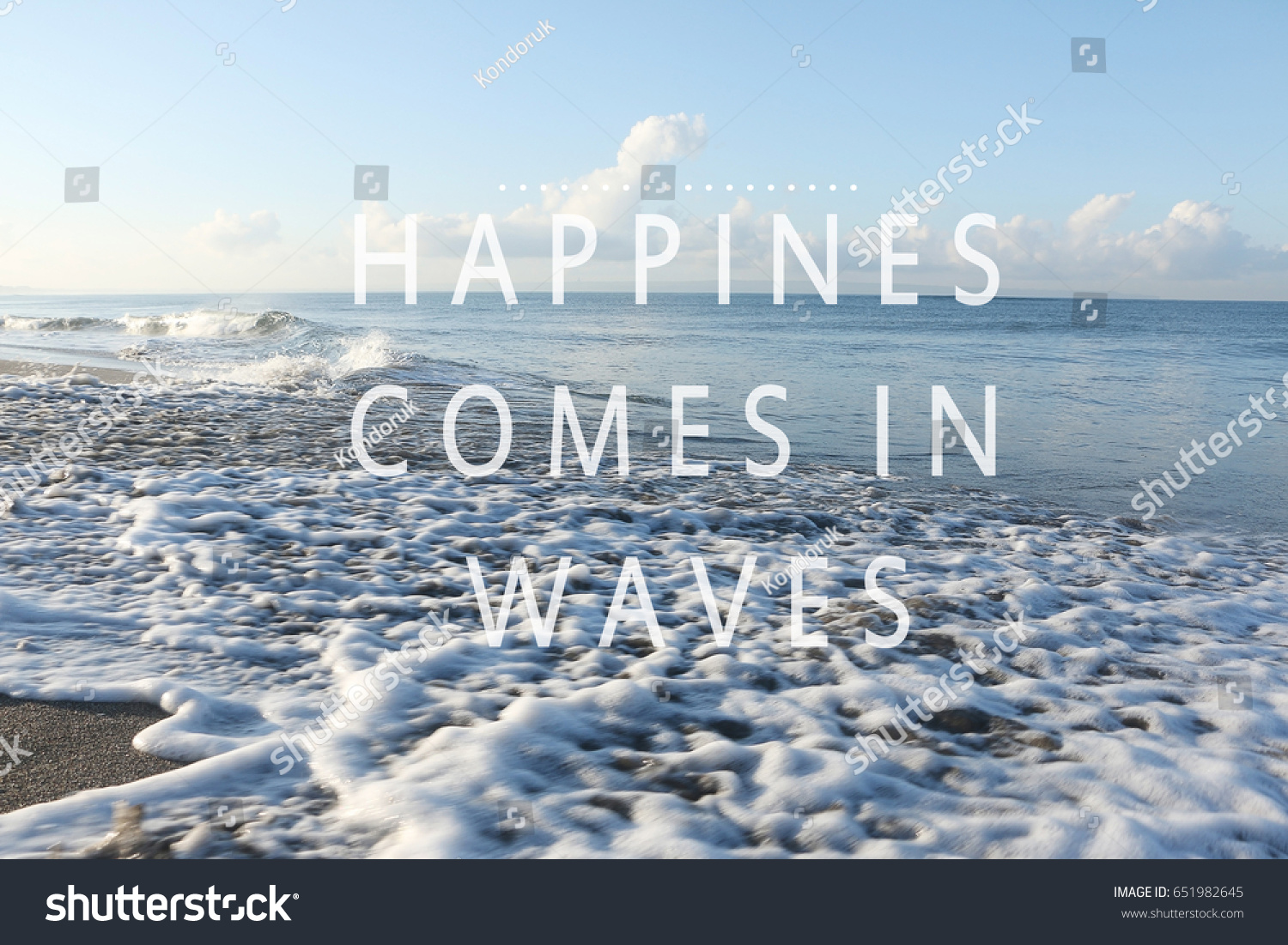 Blurry Waves On Beach Inspirational Quotes Stock Photo Edit Now