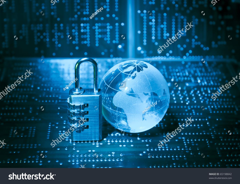 Lock Electronic Printed Circuit Board Technology Stock Photo 65198842