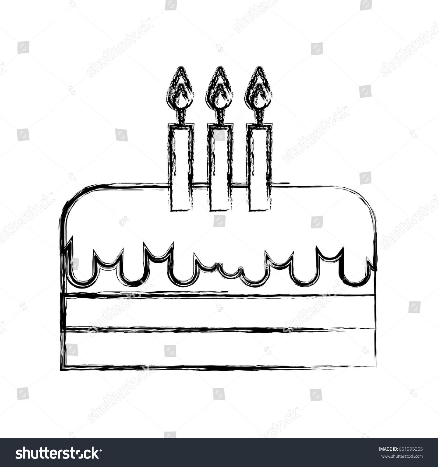 Super Sketch Draw Birthday Cake Cartoon Stock Vector Royalty Free Funny Birthday Cards Online Alyptdamsfinfo