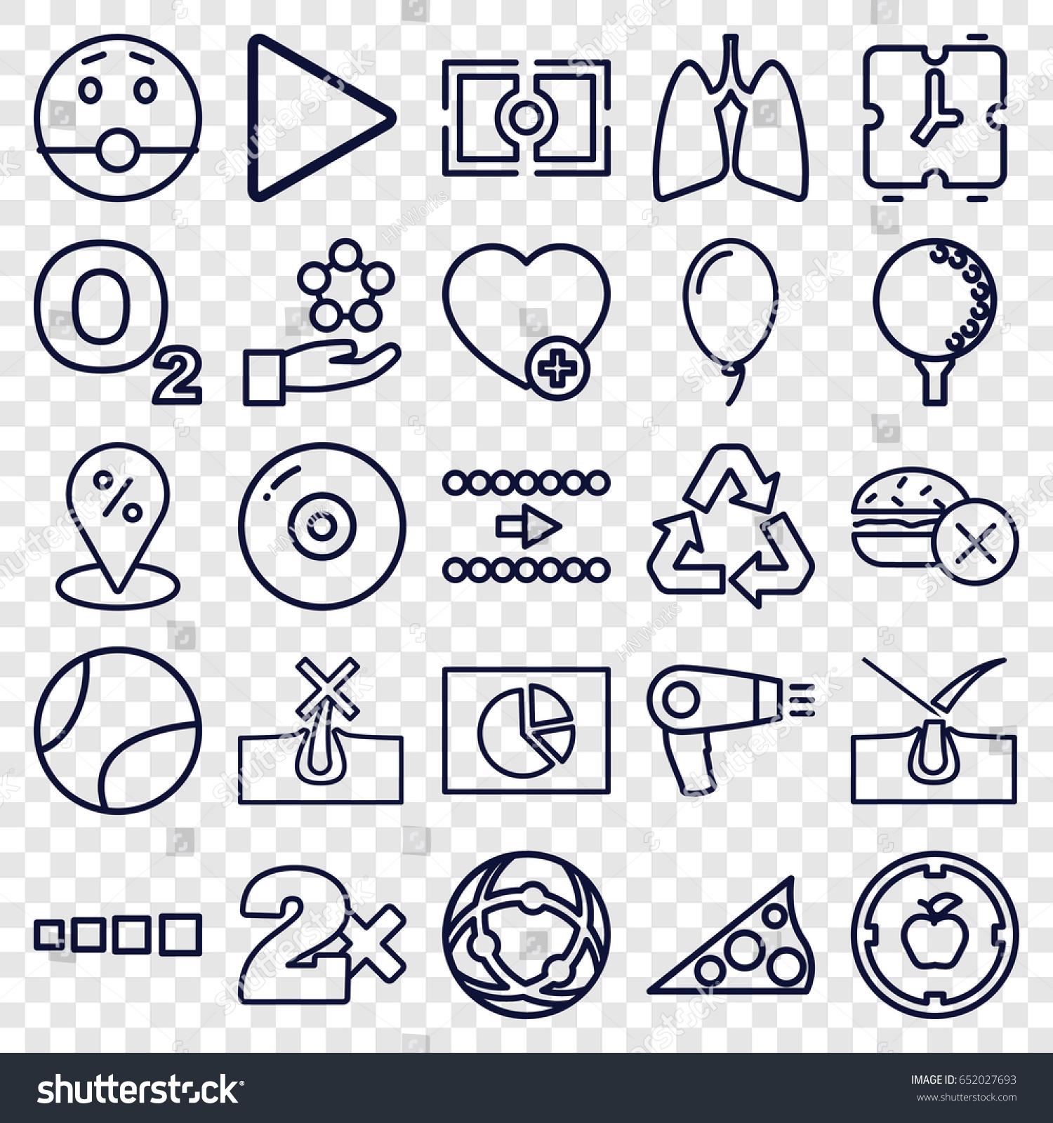 Circle icons set set 25 circle stock vector 652027693 shutterstock circle icons set set of 25 circle outline icons such as hair dryer no biocorpaavc Choice Image